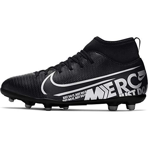 Nike Unisex-Kinder JR Superfly 7 Club FG/MG Fußballschuhe, Mehrfarbig (Black/MTLC Cool Grey-Cool Grey 001), 36 EU