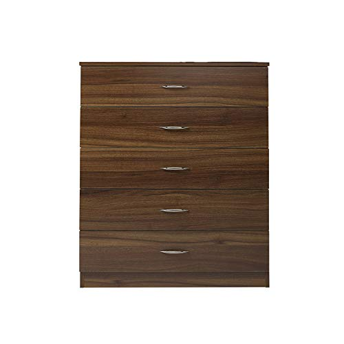 Laura James, cassettiera per camera da letto con 5 cassetti WALNUT ...