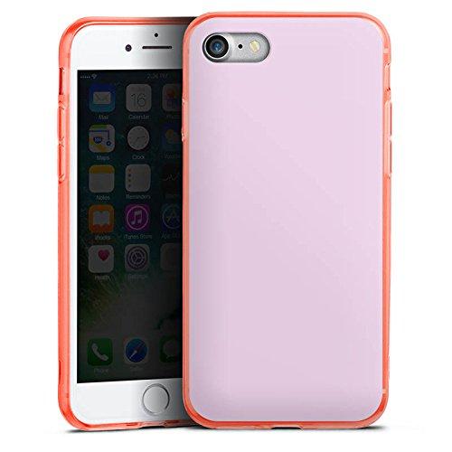 Apple iPhone 8 Silikon Hülle Case Schutzhülle Flieder helleres Violett Lila Silikon Colour Case neon-orange