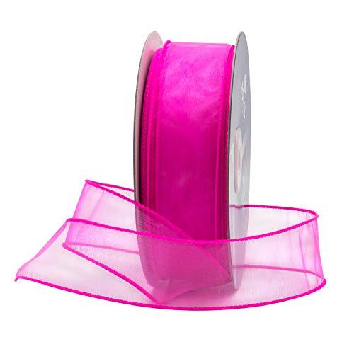 festes Druckband für patriotische Blumendekoration 1-1 / 2 Zoll Pink ()