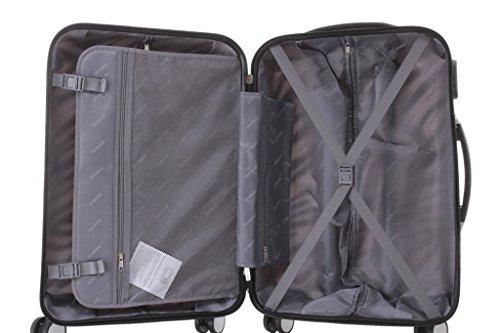 Reisekoffer 2060 Hartschalen Trolley Kofferset in 12 Motiven SET--XL-L--M-- Beutycase (Zebra, 3er Set(XL+L+M)) - 6