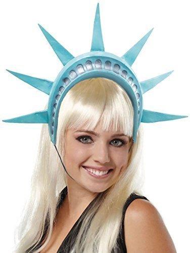 tsstatue American Kostüm Kleid Outfit Stirnband Haarband Hut - Blau, One Size (Freiheitsstatue Kostüm Für Kinder)