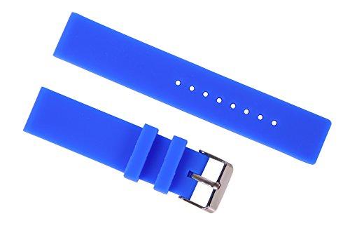 14mm marineblau glatte Gummiuhrenarmband rutschsicheren Silikon-Sport-Uhr-Armbänder für Frauen gerade Ende