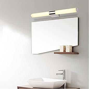 Miroir Lampe 8W Lampe pour Salle de Bain Miroir Blanc Chaud Maquillage Led 40 LEDs Miroir LED 880LM AC 220V Applique Murale Acier Inoxydable