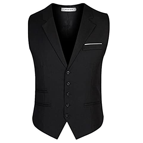 Mode Gilet Single-breasted Costume Veste Homme Slim Fit Sans Manches