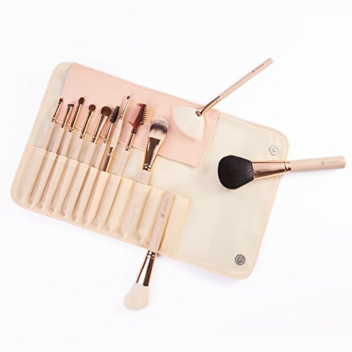 amoore Make Up Pinsel Pinselset Make Up Pinsel Sets Make Up Buersten mit der PU Leder Kosmetiktasche