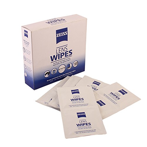 Zeiss Pre-Moistened Lens Cleaning Wipes for Spectacles, Binoculars, Mobiles, Tablets, Laptops, LCD display, cameras