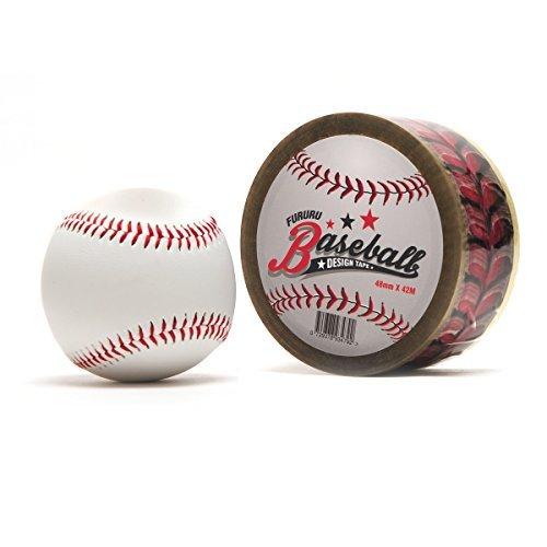 fururu Echt Baseball Stitch Klebeband, Home Deco 4,8cm von 46meter, 1Rolle baseball