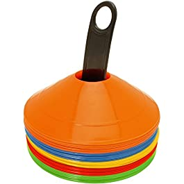CampTeck U6859 Confezione da 50 Pezzi Coni Allenamento Coni Sport Plastica Mini Cono Segnalatore Spaziale Calcio…