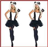 Gorgeous Halloween-Kostüm Plüsch Tiger Katzenmädchen Uniformen Absatz Schwarzweiss-Leopard panda Tierkostüme