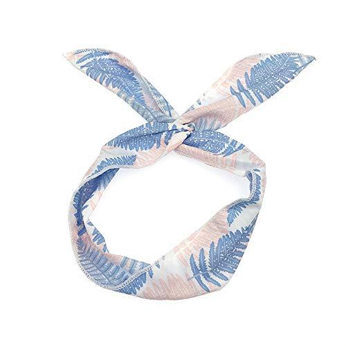 Damen Stirnbänder, TTWOMEN Aufdruck Turban Knotted Haarband Kopf Wickelt Sport Elastic Turban Haar Zubehör (Blau) (Katze Im Hut-gesicht Make-up)