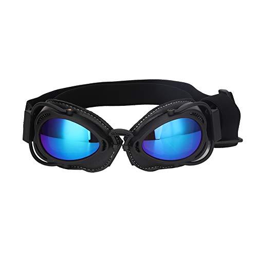 Bicaquu Faltbare große Hund UV-Brille Sonnenbrille Haustier Hunde Dekorationen Augen Schutzzubehör(Schwarz)
