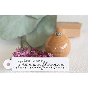 Hochzeitsstempel mit Holzgriff Seifenblasen/DIY/Lasst unsere Träume fliegen/Wedding Bubbles/Anhänger
