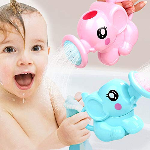 Y56 Badespielzeug für Baby Kleinkinder Nettes Baby-Badetiere-Spielzeug-Wasser-Wannen-Badezimmer des Dusche-Kindes, Das Spielzeug-Geschenke spielt (Blau) - Wanne-geschenk-korb