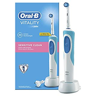 Oral-B Vitality Sensitive Clean Brosse à Dents Electrique Rechargeable, par Braun (B003RRY44G) | Amazon price tracker / tracking, Amazon price history charts, Amazon price watches, Amazon price drop alerts