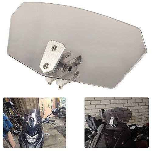 Estensione parabrezza regolabile per moto, estensore del deflettore del vento clip-on universale, per Yamaha per Kawasaki per Ducati (Nero)