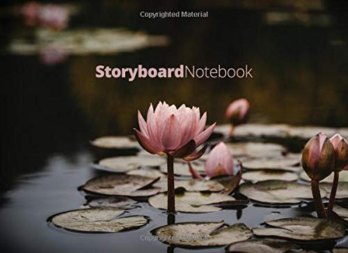 Storyboard Notebook: 8.25 x 6 in, 6 Panel 16:9, 250 Pages, Lotus Theme - Lotus-panel