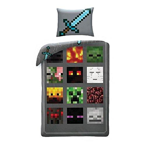 e 140x200cm MNC013BL (Minecraft Kopf)