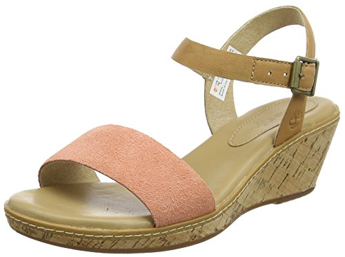 Timberland Damen Whittier Backstrap Slingback Sandalen Pink (Natural Tan With Crabapple 101)