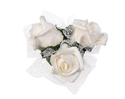 Autoschmuck Hochzeit 4 Rosen creme Hochzeits Deko