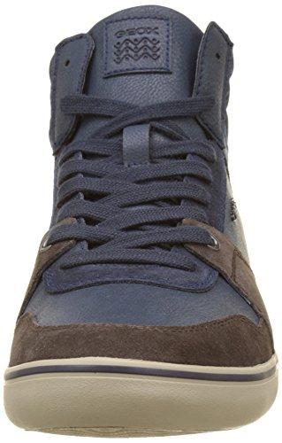 Geox Herren U Box J Hohe Sneaker Blau (DK COFFEE/Navy)