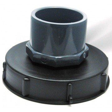 CPP - Couvercle 15cm pour cuve 1000L avec entrée PVC 75/90