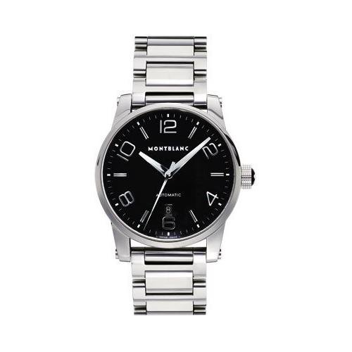 Montblanc Women's 42mm Black Steel Bracelet & Case S. Sapphire Automatic Analog Watch 09672