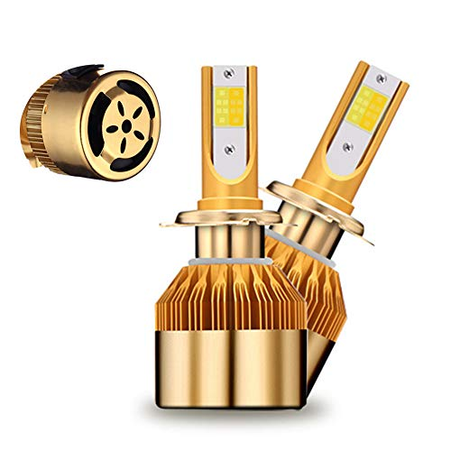 Preisvergleich Produktbild QDJIE Auto-Scheinwerfer-Lampen-Kit,  Doppelte Farbtemperatur Huang Baiguang Nebelschein 50W Super Hell Schnellstart (2Pcs / Set) (H11 H7 H4)