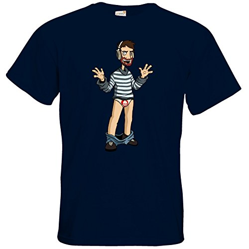 getshirts - Necr1teTV - T-Shirt - Hosenlos Navy