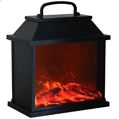 Tronje LED Tisch-Kamin XXL schwarz 4h-Timer 6 LEDs Feuersimulation lodernde Flammen Deko-Kamin USB Kaminfeuer-Animation von Tronje auf Heizstrahler Onlineshop