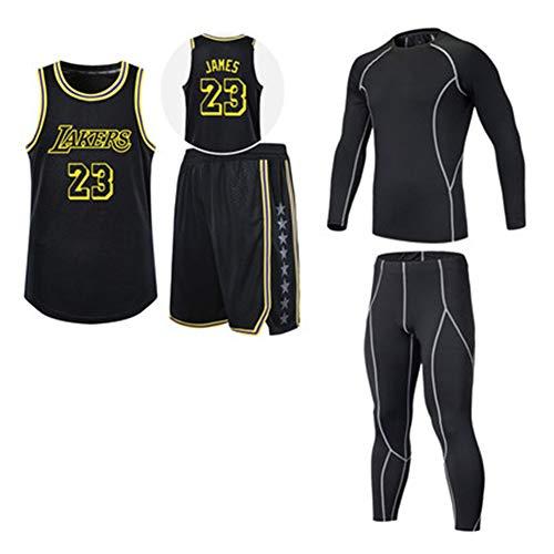 James Jersey 23rd Retro Team uniforme traje de cuatro piezas traje de baloncesto + camiseta ajustada...
