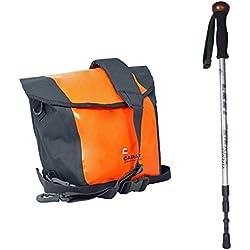 Bastón de senderismo exterior Set Leki FS con tornillo de cámara integrada como monopié Plus de polvo y salpicaduras Funda Para Fotos y Elektronik