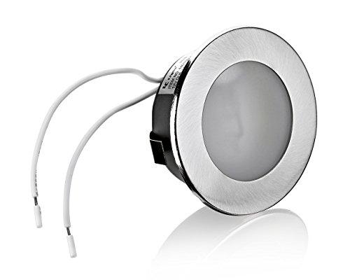 2er Set Flache Möbelleuchte Unterbauleuchte Einbaustrahler Einbauleuchte Küchenleuchte Einbauspot 12V flach geeignet für G4 LED/Halogen Lampe Leuchtmittel 12V AC/DC max. 20W -
