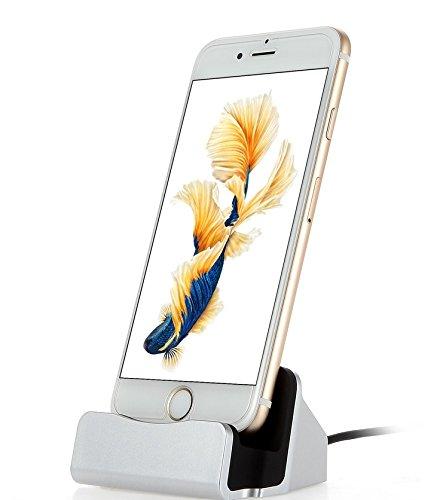 Xixihaha pour iPhone Chargeur Dock et Sync Stand Chargeur Base Station de Recharge pour Apple iPhone 5 / 5s / 5c / Se / 6/6 Plus / 6s / 6s Plus / 7/7 Plus / 8 / 8Plus / X (Ruban)