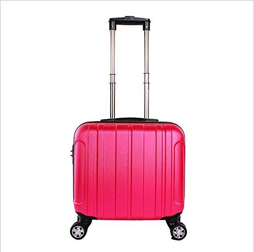 Xiuxiandianju 17 pollici Business Computer caso imbarco bagagli uomini e di donne ruote ABS Password sacchetti piccoli casi di corsa (20L) , silver rose red