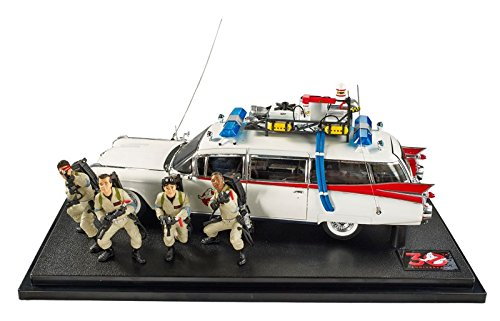 Hot Wheels Elite Ghostbusters ecto-1 30th Anniversary Edition mit Zahlen (Maßstab 1: 18)
