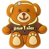 Brownie Guides Teddy Bear Pin Badge (Wearing Brownies Hoodie)