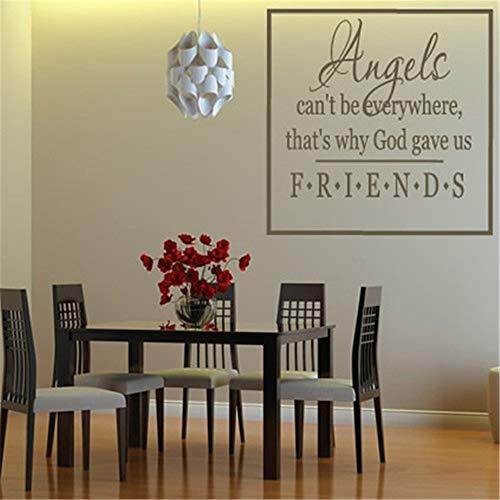 Aufkleber wandaufkleber weihnachten xxl Engel können nicht überall sein Deshalb gab Gott uns Freunde fürs Wohnzimmer Schlafzimmer
