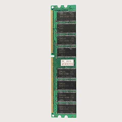 1GB DDR 400 PC3200 Non-ECC Low Density Desktop DIMM RAM 184 pins