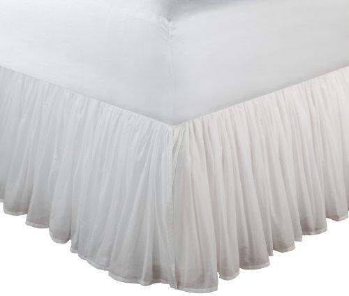 Groenland Home Fashions Coton Voile 45,7 cm Blanc Tour de Lit, Coton, Blanc, King