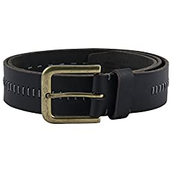 Kara Black Color Genuine Leather Belt Semi-Formal Belt For Men (44)