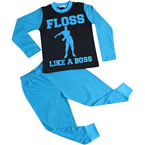 A2Z 4 Kids Kinder Mädchen Jungen Pyjamas Modisch Floss Like A Boss Aufdruck - PJS Floss Like A Boss Blue 13