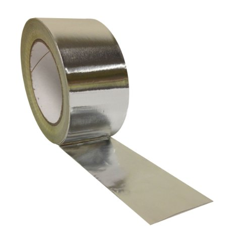 4-huge-rolls-48mm-x-45m-yuzet-aluminium-foil-tape-self-adhesive-heat-insulation-bright-silver-lined-
