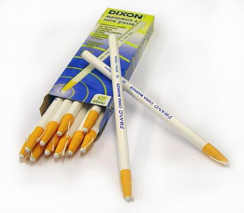 Dixon 92 China Marker, Weiß, 12 Stück -