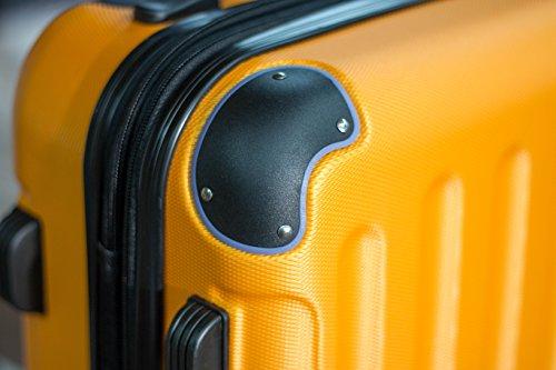 Shaik 7204110 Trolley Koffer, 80 Liter, Gelb - 2