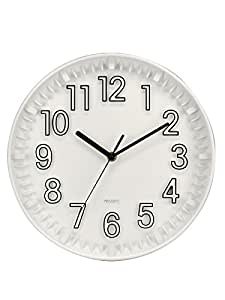 Basement Bazaar Attractive Plastic Wall Clock (30cm x 30cm,White)