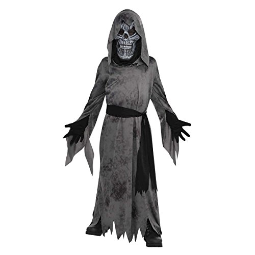 Dark grausiger Geist Ghoul Jungen Halloween Fancy Dress Kids Kinder Kind Kostüm
