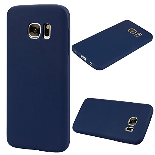 Forhouse Hülle Samsung Galaxy S7 Edge Anti-Scratch, Slim Back Cover Personality Design Clear TPU Hülle Back Cover for Samsung Galaxy S7 Edge - Navy Blue