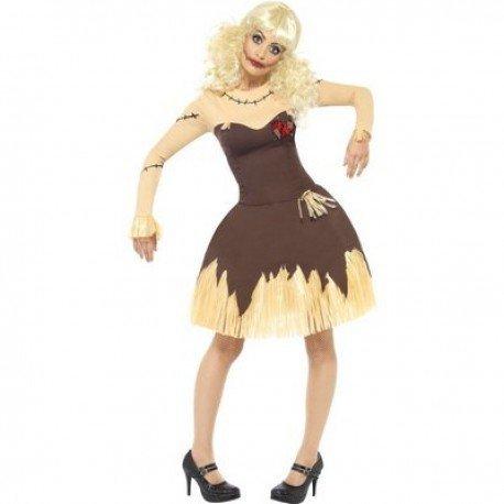 (Halloween Kostüm Voodoo-Puppe für Frauen - L)