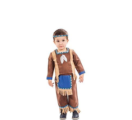 EUROCARNAVALES Kinder Kostüm Indianer Kenai Alter 1-2 Jahre Einheitsgröße Baby Kleinkind Cowboy Rothaut Western Fasching (Kinder Indianer Junge Kostüm)